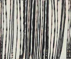 Terri Brooks - Vertical Marks 2014. Oil on canvas, 153 x 183 cm.