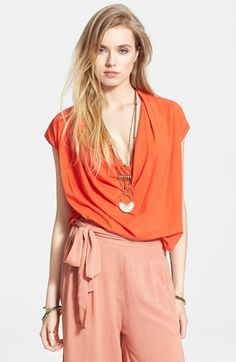 Free+People+'Fantasy'+Lightweight+Cowl+Neck+Tee+available+at+#Nordstrom