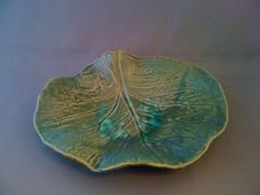 Handcrafted Leaf :: Ceramics by Rebecca Catterall. See more of her work at Ten Women Gallery on Montana Avenue, Los Angeles.