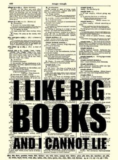 I Like Big Books and I Cannot Lie by ReImaginationPrints on Etsy Funny Text Art, Got Books, Books To Read, Wall Decor Quotes, Quote Wall, Dictionary Art, Typography Art, Funny Texts, Book Lovers