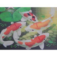 Lukisan Objek Motif 4 Ikan Koi  Tinggi: 30cm  Lebar: 40cm  Bahan: Canvas  Sangat cocok untuk dijadikan sebagai pajangan di rumah anda, maupun di tempat kerja anda.  Saat pengiriman, Lukisan bisa digulung, dan dimasukkan ke pipa, jadi akan aman sewaktu pengiriman.