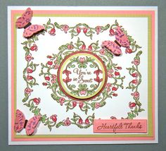 designed by Angela Barkhouse using JustRite Vintage Floral Labels, You're So Sweet and Fancy Tags
