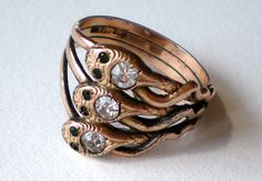 SALE Antique Victorian Snake Ring 14K Gold RGP by treasurebooth, $148.00