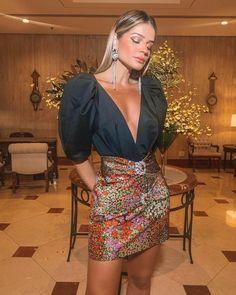 Looks like Bufante Sleeve - Outfit Fashion Fashion 2020, Love Fashion, Girl Fashion, Fashion Looks, Womens Fashion, Fashion Design, Casual Dresses, Short Dresses, Fashion Dresses