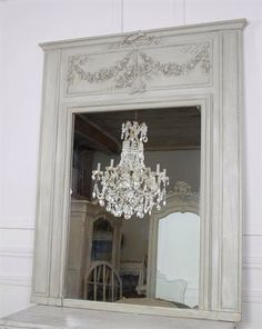 Antique French Tremeau Mirror With Roses from Full Bloom Cottage Decor, French Country House, Cottage, Elegant Bedroom, Shabby Mirror, Home Decor, French Mirror, Trumeau Mirror, Mirror