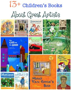Children's Books about Great Artists.help your children learn about the great artists in history with picture books. Here are our favorites, starting with one that was recently re-released, Linnea In Monet's Garden. Art Books For Kids, Childrens Books, Art For Kids, Toddler Books, Preschool Books, Book Activities, Sequencing Activities, Prek Literacy, Enrichment Activities
