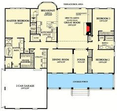 Architectural Designs--2151 sq ft on main level
