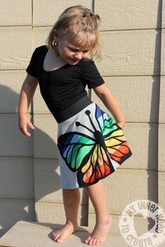 Applique Rainbow Butterfly Skirt--tutorial  absolutely beautiful!