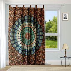 Mandala Curtains, Tapestry Curtains, Bohemian Curtains, Tapestry Wall Hanging, Curtain For Door Window, Window Hanging, Door Curtains, Hippie Apartment Decor, Bohemian House
