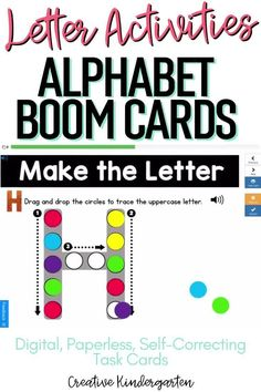 Reinforce uppercase and lowercase letter recognition, letter formation, and letter sounds with hands-on and engaging Boom Card activities. These digital task cards will work on learning to identify and name the letter J.Use this deck for letter of the day, letter of the week or all year to reinforce alphabet knowledge. This pack includes activities for uppercase and lowercase letters, letter discrimination, letter sounds, letter building, and sorting. Preschool Letter Crafts, Letter A Crafts, Alphabet Activities, Literacy Activities, Literacy Skills, Kindergarten Literacy, Letter Formation, Uppercase And Lowercase Letters, Letter Recognition