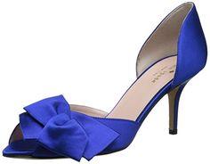 Amazon.com: kate spade new york Women's Sala D'Orsay Pump,Ivory/Satin/Gold Glitter Heel,6.5 M US: Clothing
