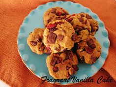 Fragrant Vanilla Cake - Raw Pumpkin Cranberry Cookies - Will need a dehydrator to make these (Gluten, Raw and Vegan!)
