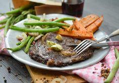 #entrecote #steak #sweetpotatoes #foodporn #beans #yummy #fitnessfood