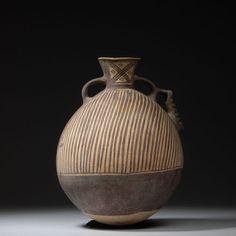 Ancient Pre - Columbian Chancay Culture Pottery Vessel - 1200 AD