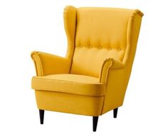 Yellow-Wing-Back-Armchair