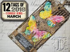 with spring rightaround the corner, i was inspired to brighten things up this month byre-mixing two techniques that had completely different color palettes when originally featured. the result o...