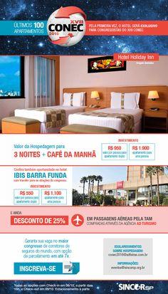 XVII Conec - ÚLTIMOS 100 apartamentos no Holiday Inn