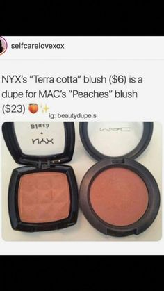 Mac blush dupe is from NYX Cosmetics – – You are in the right place about dupes best Here we offer you the most beautiful pictures about the dupes essence you are looking for. When you examine the Mac blush dupe is from NYX Cosmetics – – … Drugstore Makeup Dupes, Makeup Cosmetics, Bronzer, Best Drugstore Blush, Makeup Brush Bag, Skin Makeup, Makeup Brushes, Makeup Eyeshadow, Beauty Makeup