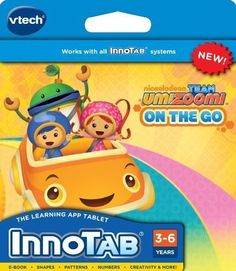 Amazon.com : VTech InnoTab Software - Team Umizoomi : Electronic Learning Aid Notepad System Cartridges : Toys & Games