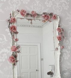 Rose garland draping a doorway.