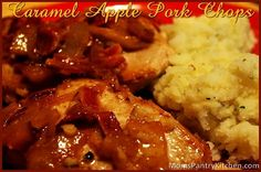 Caramel Apple Pork Chops ttp://www.momspantrykitchen.com/caramel-apple-pork-chops.html