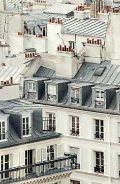 "Travel Discover Paris Rooftops Paris Photography Architecture Art Fine Art Photography Print Gray Wall Art French Home Decor Paris Print ""Soliloquy"" Grey Wall Art, Large Wall Art, Paris Photography, Fine Art Photography, Photography Women, Travel Photography, Paris Rooftops, Montmartre Paris, Grande Hotel"