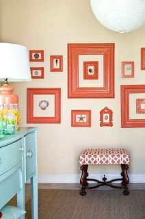 Cute ideas to decorated that white wall.