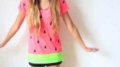 diy watermelon costume (laurdiy)