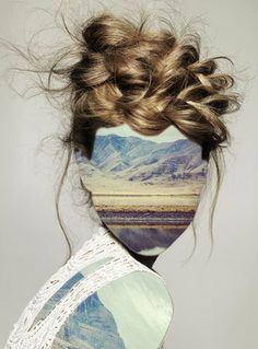 "Saatchi Online Artist Erin Case; Collage, ""Haircut 1 (with Andrew Tamlyn)"" #art"