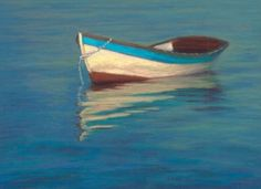 paintings of boats | Cape Cod Old Wooden Dory Boat by Provincetown Artist Nancy Poucher ...