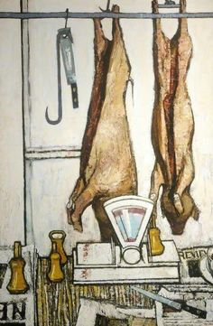 Art UK is the online home for every public collection in the UK. John Bratby, Cezanne Still Life, Meat Love, Norman Rockwell Paintings, Social Realism, Butcher Shop, Gcse Art, Art Uk, Your Paintings