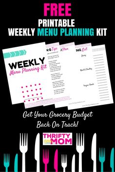 The Free Printable Weekly Menu Planning Kit from Thrifty Little Mom helped get…