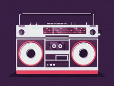 Boombox by Paulius Inktober, Valentine Day Boxes, Music Illustration, Wax Museum, Cassette, Music Images, Boombox, Art Music, Artwork Prints
