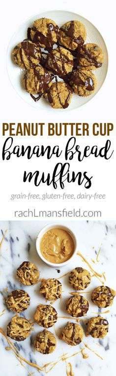 Peanut Butter Cup Banana Bread Muffins by rachLmansfield