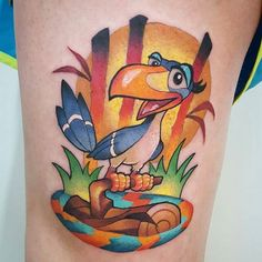 #lionking #lionkingtattoo #zazu #disney #disneynerd #waltdisney #tattoo #disneytattoo #disneyworld