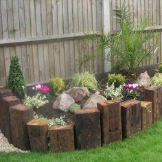Wooden Garden Edging Ideas