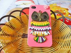 Fashion owl pink Hard Case Cover For Apple by jewelrybraceletcuff, $12.99