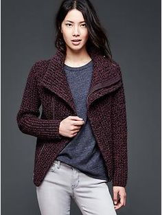Moto sweater jacket | Gap  How cozy does that look?