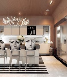Home Designing U2014 (via A Modern Art Deco Home Visualized In Two.