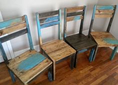 rustic dining chair distressed room alexfurniture reclaimed wood multi color kitchen chairs