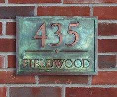 Unique Address Plaque  Copper Coated with Verde by OldGoatSigns