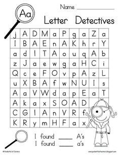 Alphabet I Spy Alphabet Sheets for Letter Sound