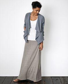 Image of Hemp cotton jersey skirt