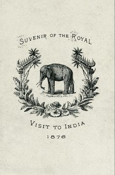 (heard something like this today; 1800 from Cherryl-spiritual healer. Loved the elephant) Love this idea for the favors. Souvenir of the royal.