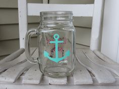 A personal favorite from my Etsy shop https://www.etsy.com/listing/236118583/mason-jar-with-mint-anchor-and-lets-set