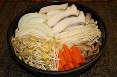tofu mushroom hot pot