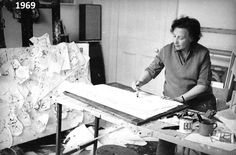 Franciszka Themerson in her studio, photo by kind permission of the Themerson Estate, London
