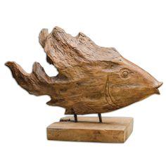 Natural Teak Wood. Dimensions (inches): 5.5D, 18.5W, 11.75H.
