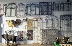 I think I need to take a road trip to Albany!!! ANTIQUE VICTORIAN WROUGHT IRON GARDEN or DRIVEWAY GATES