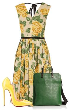 """""""Untitled #11230"""" by nanette-253 ❤ liked on Polyvore featuring mode, Marc Jacobs, Christian Louboutin et Orla Kiely"""